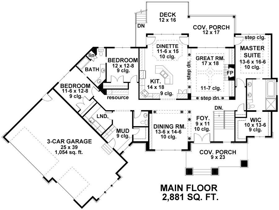Craftsman House Plan With 3 Bedrooms And 2 5 Baths Plan 9671