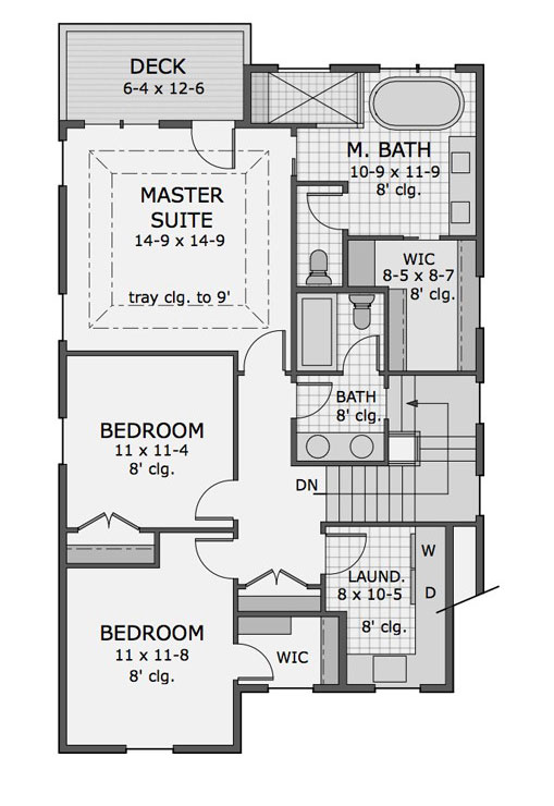 Three Bedroom Bungalow House Plan Plan 9733