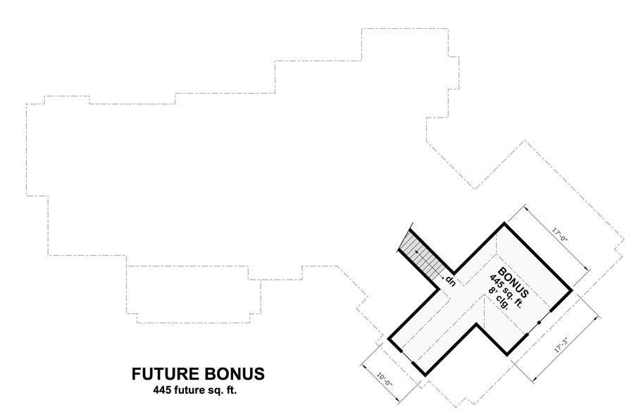 Bonus Floor Plan by DFD House Plans