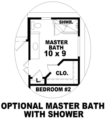 Optional Master Bath by DFD House Plans