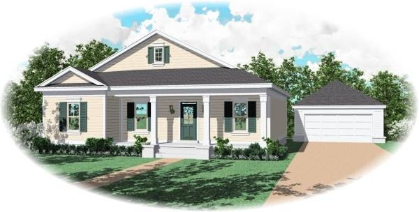 Front Elevation image of Midtown Bungalow House Plan