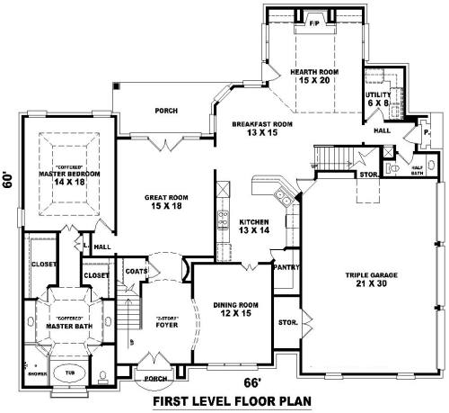 House french dream house plan green builder house plans for Dream home floor plans