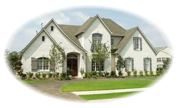Front Elevation French : House french dream plan green builder plans