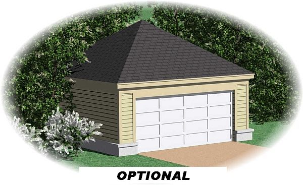 Garage Front image of Midtown Bungalow House Plan