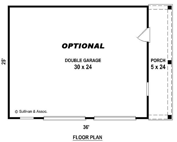 garage floorplans by DFD House Plans