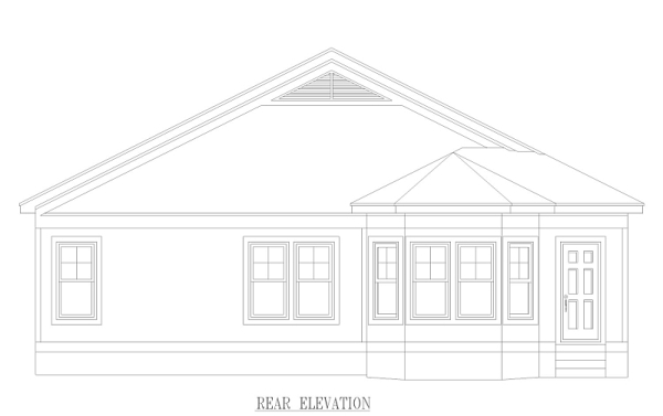 Rear image of Midtown Bungalow House Plan