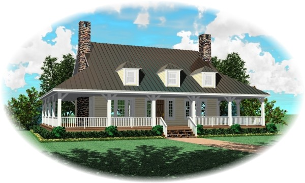 Front with optional dormers1 by DFD House Plans