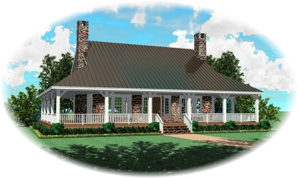 All stone by DFD House Plans