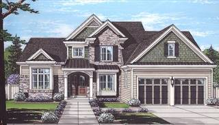 Clearview Front Rendering by DFD House Plans