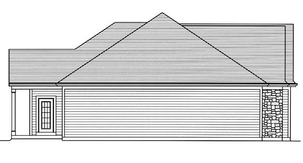 Left Elevation image of The Garden View House Plan