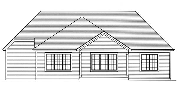 Rear Elevation image of The Garden View House Plan