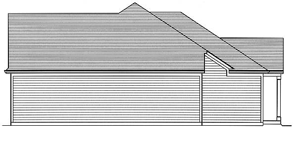 Right Elevation image of The Garden View House Plan