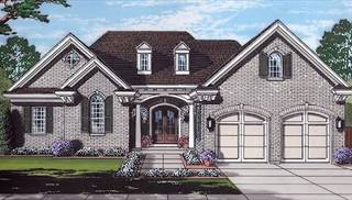 Vicksburg Front Rendering by DFD House Plans
