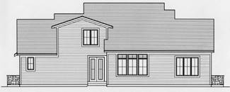 Fernbank Rear Elevation by DFD House Plans