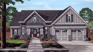 Saybrook front rendering by DFD House Plans