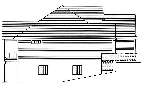 Left Elevation image of Baldwin House Plan