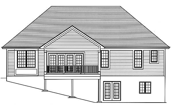 Rear Elevation image of Baldwin House Plan