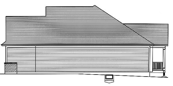 Right Elevation image of Baldwin House Plan