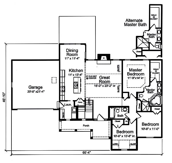 First Floor Plan image of Carlisle House Plan