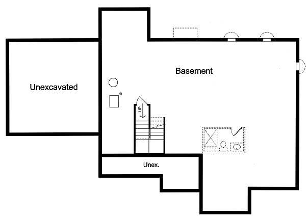 Foundation Plan image of Carlisle House Plan
