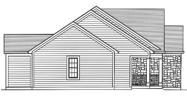 Carlisle Left Elevation image of Carlisle House Plan
