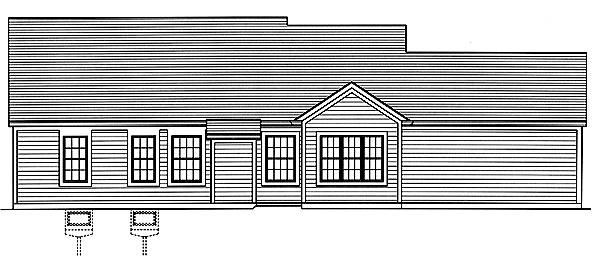 Carlisle Rear Elevation image of Carlisle House Plan