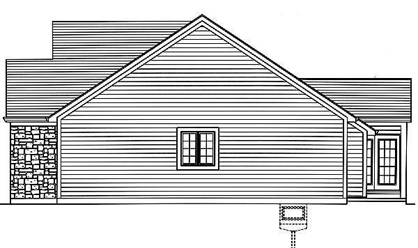 Carlisle Right Elevation image of Carlisle House Plan