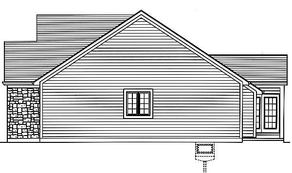 Carlisle Right Elevation image of Carlisle House Plan
