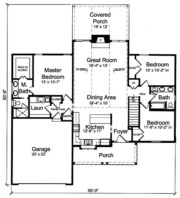First Floor Plan image of Eagle's View House Plan