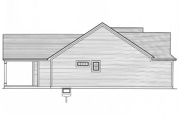 Left Side Elevation image of Eagle's View House Plan