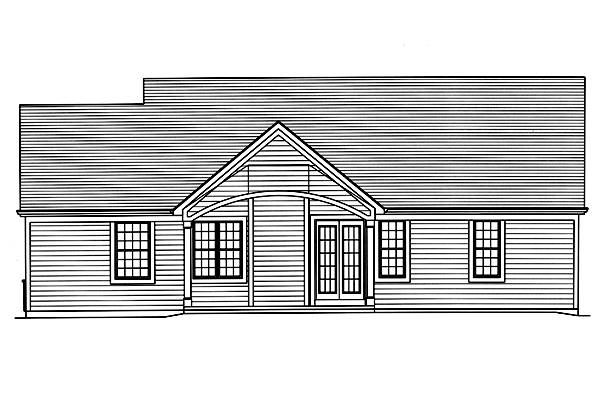 Rear Elevation image of Eagle's View House Plan