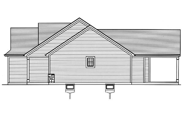 Right Side Elevation image of Eagle's View House Plan
