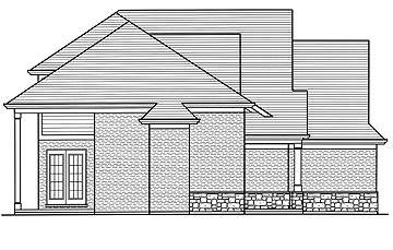 Left Side Elevation image of The Groveport House Plan