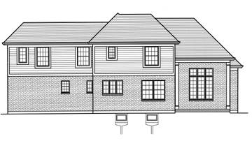 Rear Elevation image of The Groveport House Plan