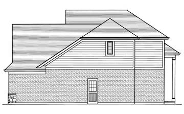 Right Side Elevation image of The Groveport House Plan