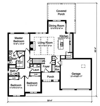 First Floor Plan image of The Portland House Plan