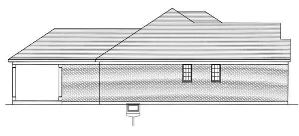 Left Side Elevation image of The Portland House Plan