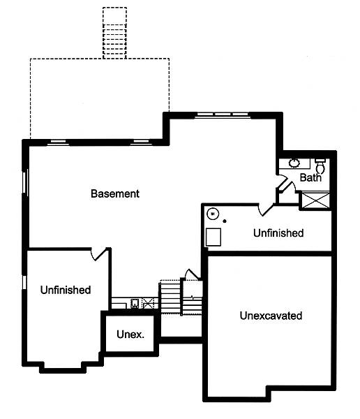 Foundation Plan image of The Applewood House Plan