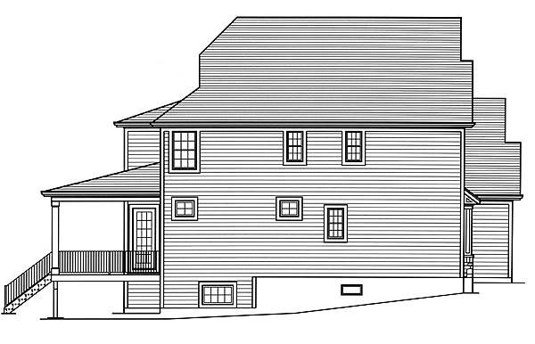 Left Side Elevation image of The Applewood House Plan