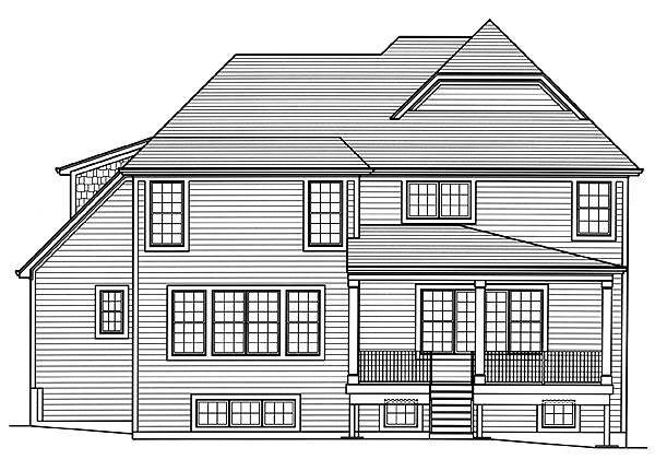 Rear Elevation image of The Applewood House Plan