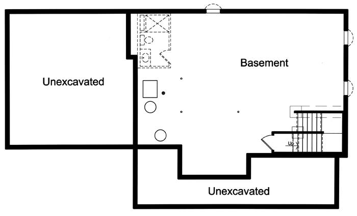 Basement Floor Plan image of The Shalimar House Plan