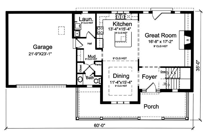 First Floor Plan image of The Shalimar House Plan