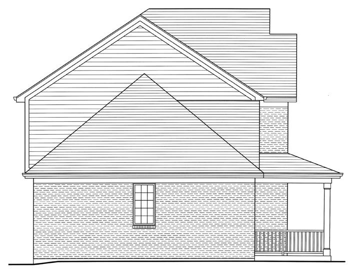 Left Side Elevation image of The Shalimar House Plan