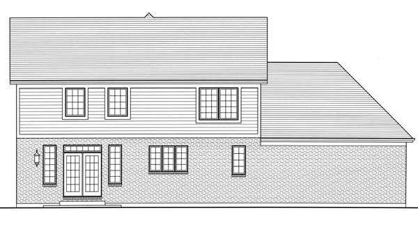 Rear Elevation image of The Shalimar House Plan