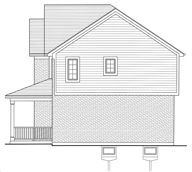 Right Side Elevation image of The Shalimar House Plan