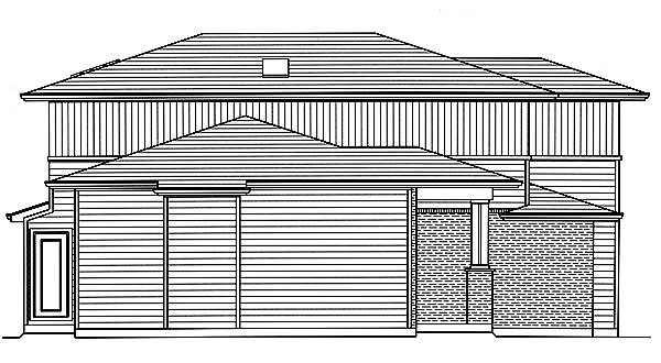 Left Side Elevation image of The Valencia House Plan