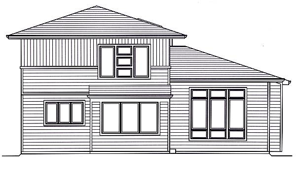 Rear Elevation image of The Valencia House Plan