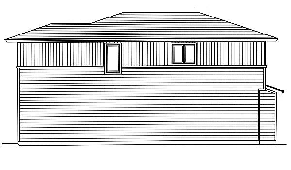Right Side Elevation image of The Valencia House Plan
