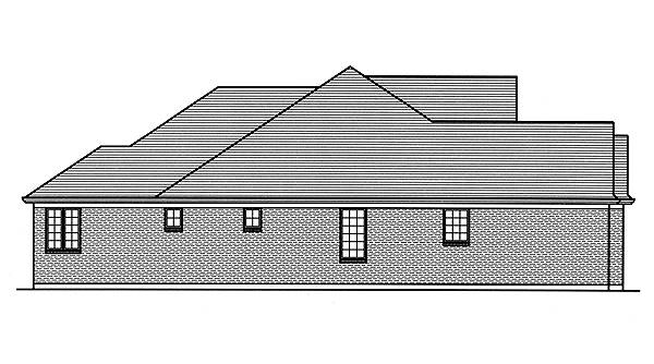 Left Side Elevation image of Hilliard House Plan