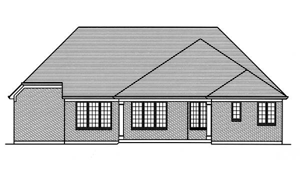 Rear Elevation image of Hilliard House Plan